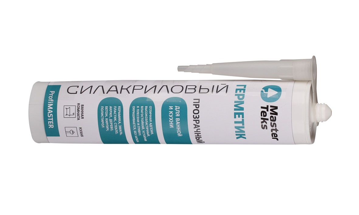 Герметик силакриловый Мастертекс ProfiMaster 290 мл прозрачный, белый